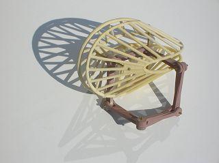 Oloid-Gerüst mit Schatz-Mechanismus. Modell: Werner BUDDE, HfK Bremen