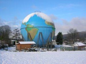 Gasometer-Globus in Wetter-Wengern
