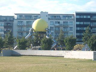 Kugel mit Rutschen in Malmö