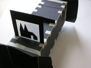 Camera obscura mit Bild