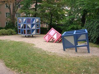 kubistischer Spielplatz. Hannover, Innenstadt